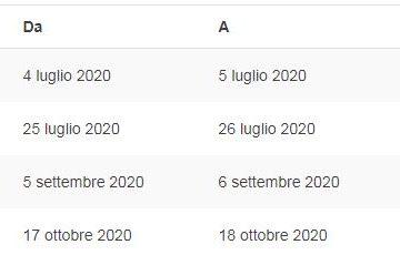 Il nuovo calendario del Civ 2020